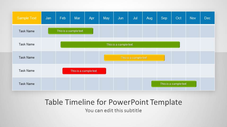 Project timeline template powerpoint toneelgroepblik Choice Image
