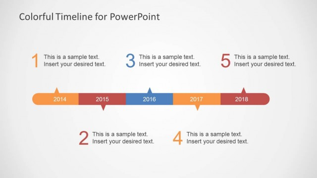 Colorful Timeline Template for PowerPoint - SlideModel