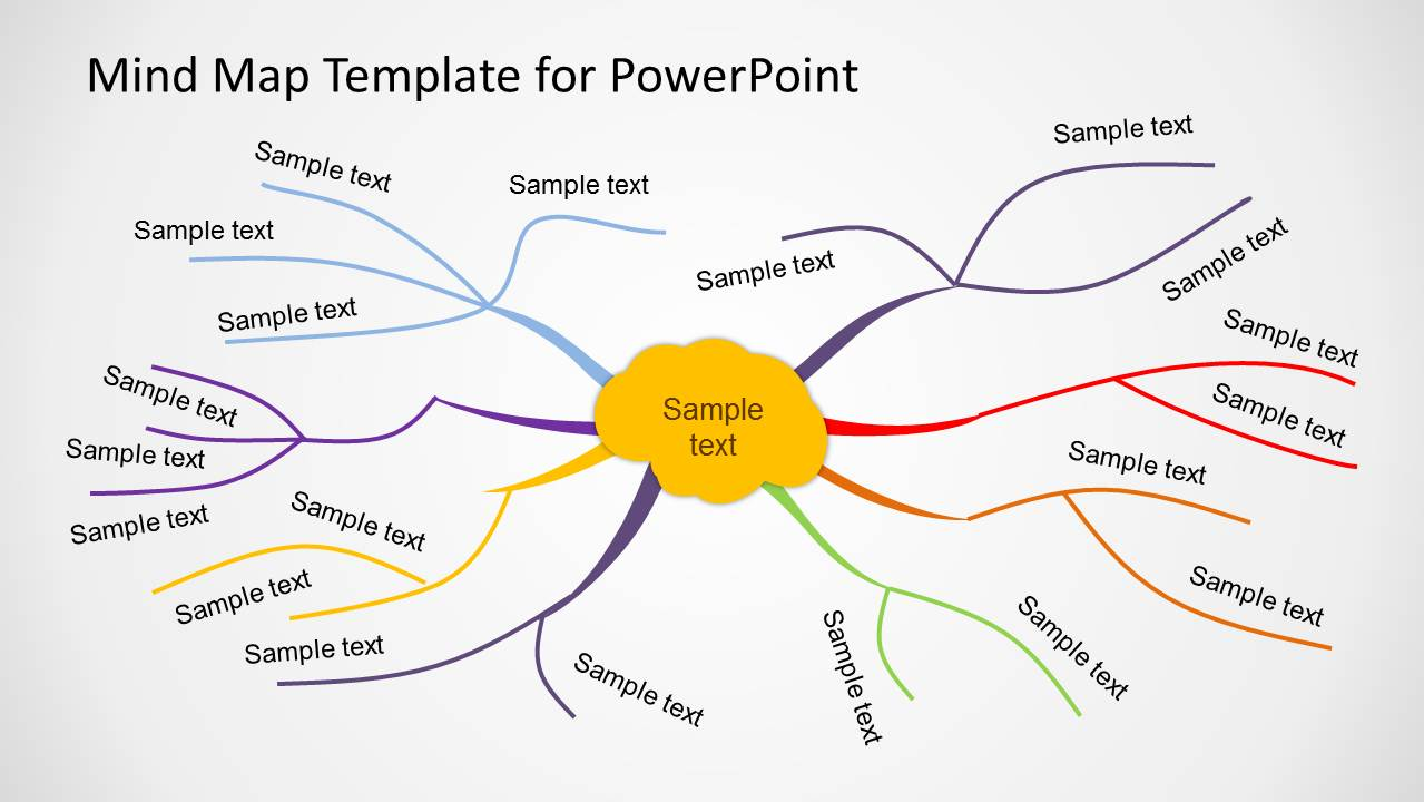 Creative Mind Map Template for PowerPoint   SlideModel Hlh02Pku