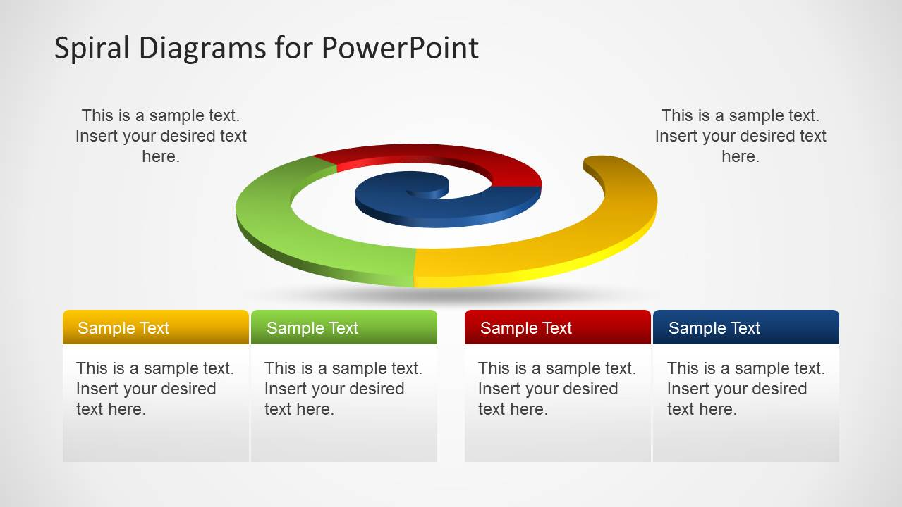 Colorful Spiral Diagram Template For Powerpoint