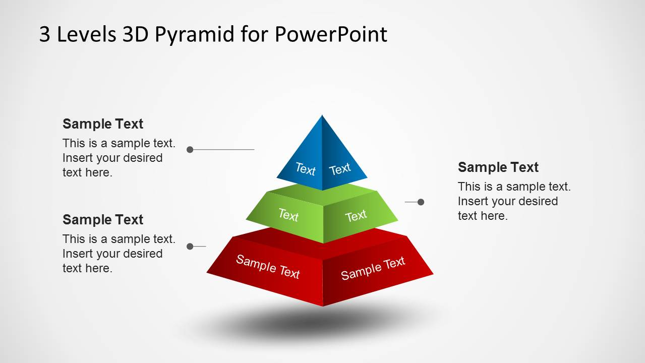 3D Pyramid Diagram Diagram with Spacing for PowerPoint - SlideModel
