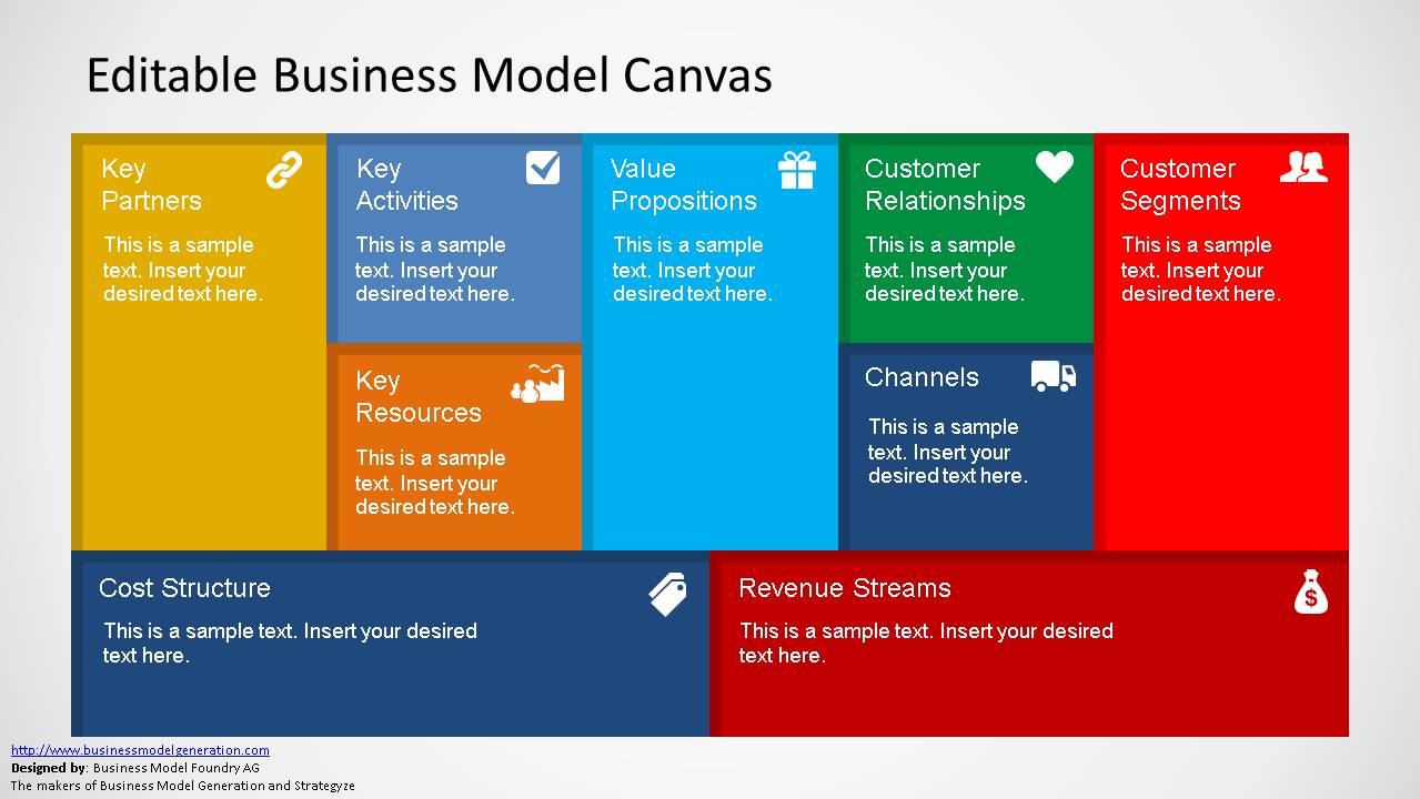 Business model canvas powerpoint template accmission Image collections