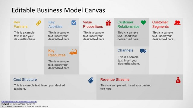 Business model canvas powerpoint template editable business model canvas powerpoint template slidemodel cheaphphosting Gallery