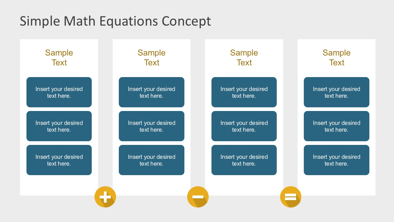 math operations equations powerpoint