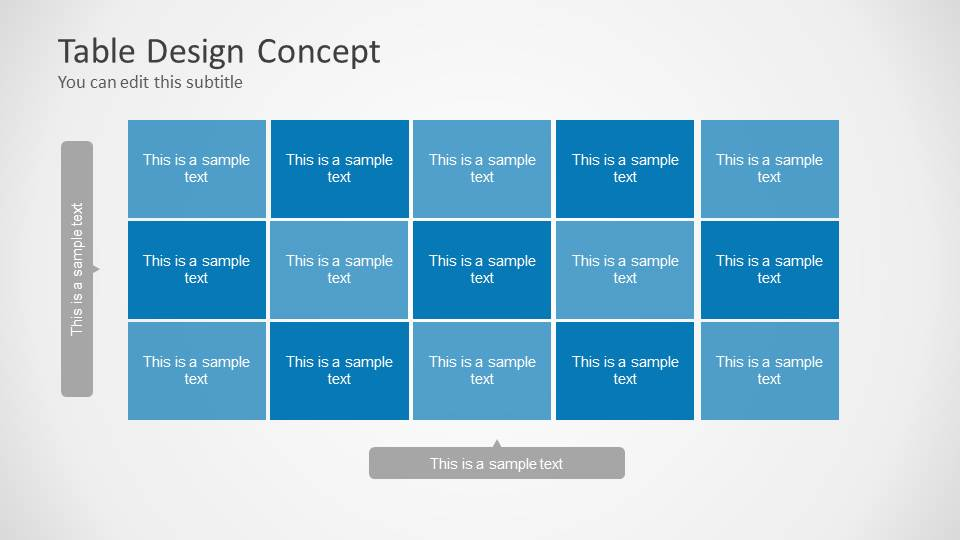 table design concept for powerpoint quotes