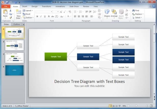 Decision tree template powerpoint organizational chart templates for making attractive presentations free decision tree powerpoint template ccuart Choice Image