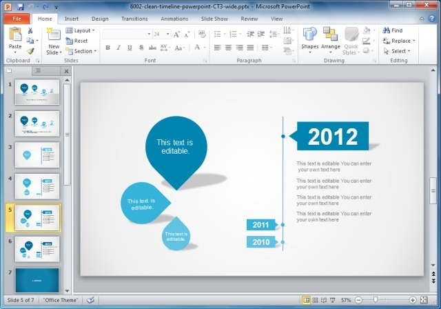 Creative powerpoint timeline template creative templates for gantt charts project planning in powerpoint toneelgroepblik Gallery