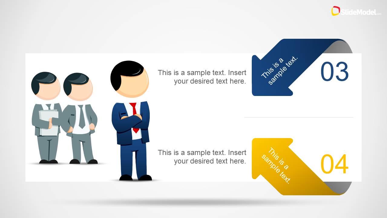 leadership illustration template powerpoint mike 4 slidemodel